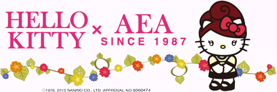 HELLO KITTY x AEA SINCE 1987 ©1976. 2015 SANRIO CO.,LTD. APPROVAL NO.S560474
